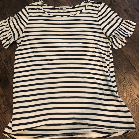 Green Envelope Tops - Women's striped short sleeve
